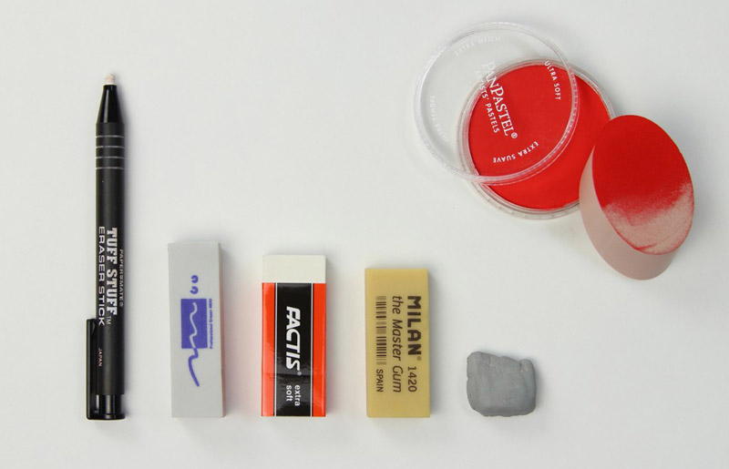 different erasers